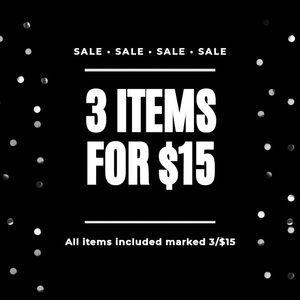 3/$15 Bundle Sale!